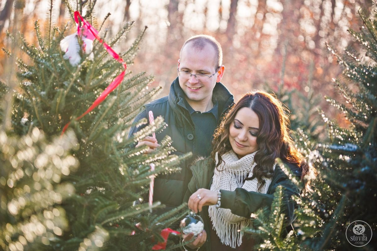 Alan & Karina Christmas Session - Archambault Tree Farm, Newmarket, NH | Boston & NH Wedding Photographers - STOVILA // Modern Professional Affordable 2