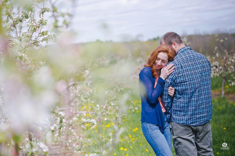 Nichole & Brandon Engagement - McDougal Orchards, Springvale ME | Boston & NH Wedding Photographers - STOVILA // Modern Professional Affordable 3