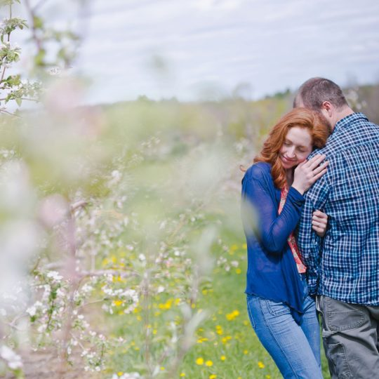 Nichole & Brandon Engagement - McDougal Orchards, Springvale ME | Boston & NH Wedding Photographers - STOVILA // Modern Professional Affordable 3
